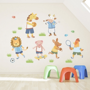 Animal Sports Team Standard Printed Wall Decal