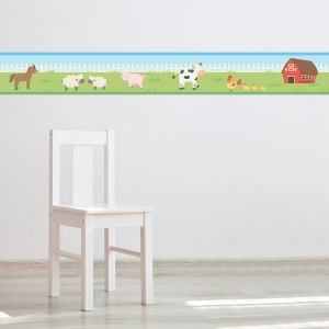 Barn Family Border Removable Wallpaper Border