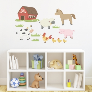 Barn Yard Animals Printed Wall Decal