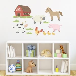Barn Yard Animals Printed Wall Decal