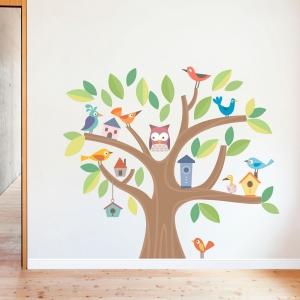 Bird Town Printed Wall Decal