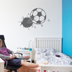 Bursting Soccer Ball  Wall Decal