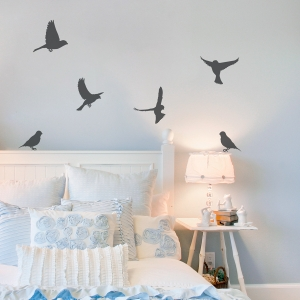 Canaries Wall Decal Dark Grey