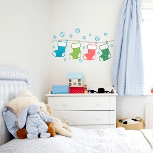 Christmas Stockings Printed Wall Decal