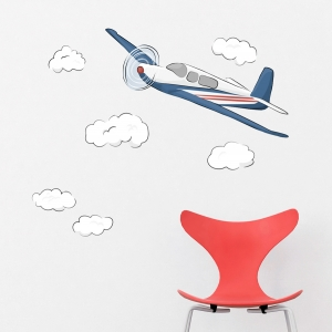 Plane Standard Printed Wall Decal