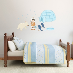 Eskimo Girl Standard Printed Wall Decal