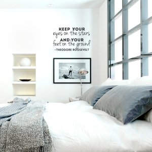 Eyes on The Stars  Wall Quote Decal