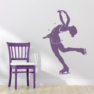 Figure Skater Wall Decal
