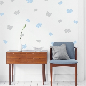 Floating Lotus Wall Decal