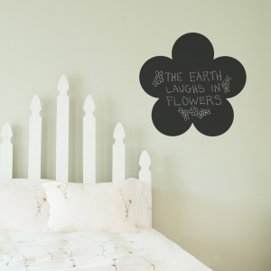 Chalkboard Flower Wall Decal