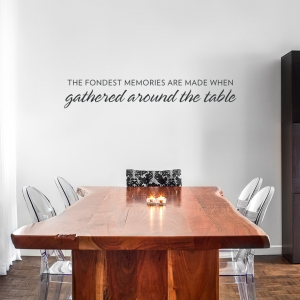 Fondest Memories Wall Quote Decal Gold