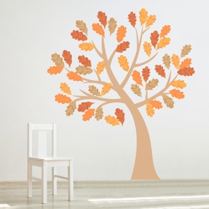 Four Season Tree Printed Wall Decal