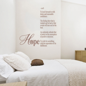 Hope Wall Quote Decal