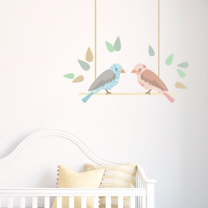 Love Birds Standard Printed Wall Decal