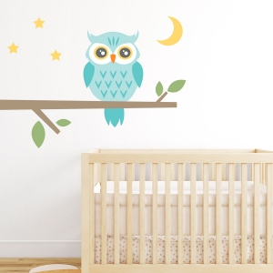 Night Owl Printed Wall Decal