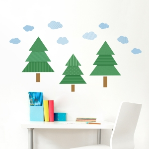 Pattern Pines Tree Printed Wall Decal