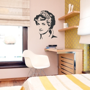Princess Diana Wall Decal