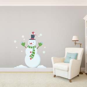 Snowman Printed Wall Decal