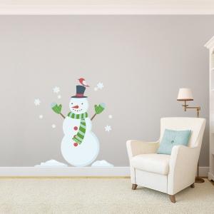 Snowman Printed Wall Decal