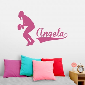Softball Name Wall Decal