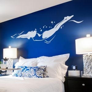 Freestyle Swimmer Wall Decal