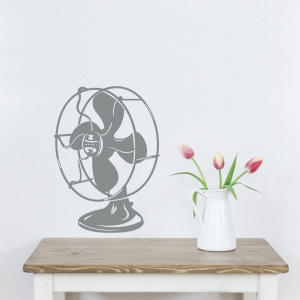 Vintage Fan Wall Decal