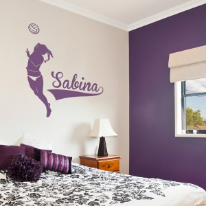 Volleyball Name Wall Decal