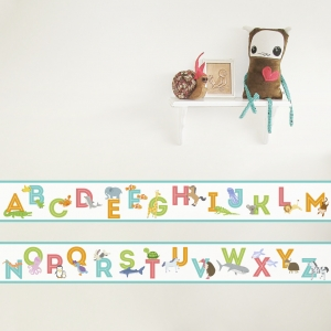 Animal Alphabet Removable Wallpaper Border