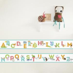 Animal Alphabet Removable Wallpaper Border