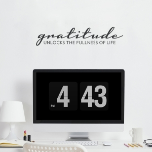 Gratitude Wall Quote Decal | Wallums Wall Decals