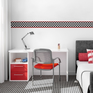 Racing Checker Removable Wallpaper Border