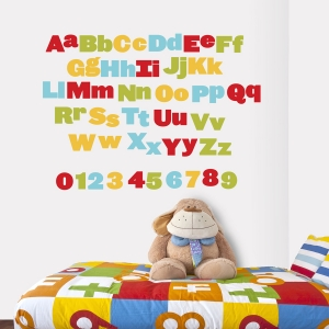 School Alphabet Printed Wall Decal