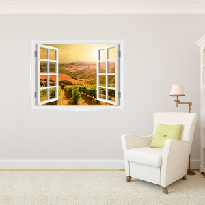 Sunkissed Vineyards Window Mural
