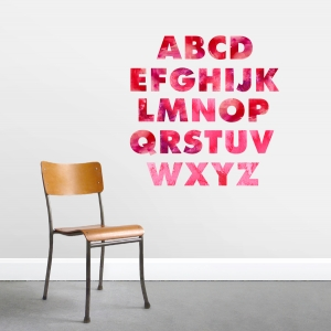 Watercolor Alphabet - Printed Wall Decal