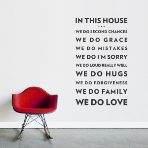 We Do Love Wall Quote Decal