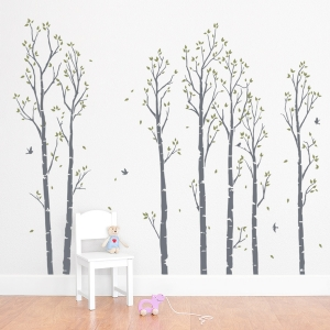 Birch Tree Forest Wall Decal