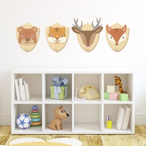 Animal Wall Plaque Printed Wall Decals