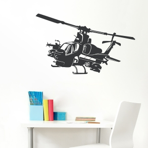 Apache Helicopter Wall Decal