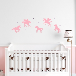 Baby Unicorns Wall Decal