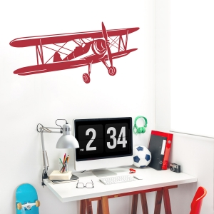 Biplane Wall Decal
