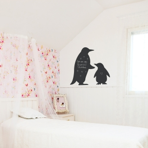 Chalkboard Penguins Wall Decal