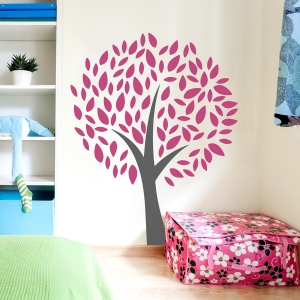 Cheerful Tree Wall Decal