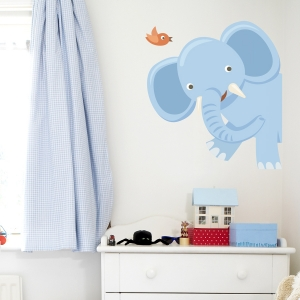 Peekaboo Elephant Printed Wall Decal