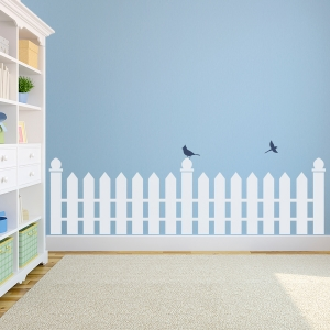 Fence Line Wall Decal
