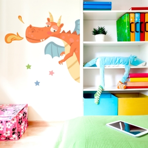 Friendly Edge Dragon Printed Wall Decal