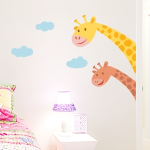 Giraffe Peekaboo Printed Wall Decal
