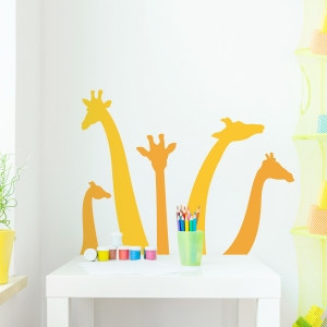 Giraffe Silhouettes Wall Decal