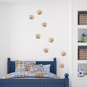 Grizzly Bear Tracks Wall Decal