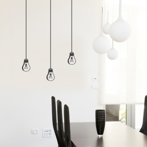 Hanging Light Bulb Wall Decal