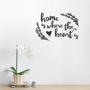 Where The Heart Is Wall Decal quote